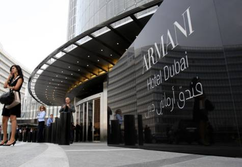Armani hotel dubai in the iconic burj khalifa the world for Armani dubai